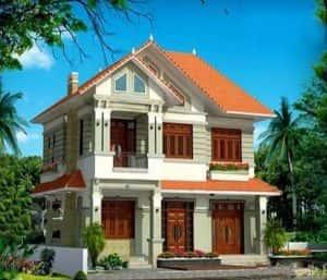 biet thu 2 tang 900 trieu d 300x257 - 28 Mẫu thiết kế nhà 2 tầng mái ngói đẹp