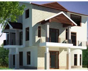biet thu 2 tang dep kinh phi 1 ty 300x240 - 28 Mẫu thiết kế nhà 2 tầng mái ngói đẹp