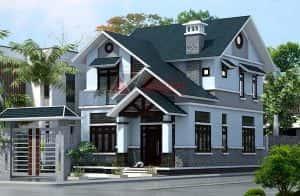 biet thu 2 tang dep kinh phi 1 ty a 300x196 - 28 Mẫu thiết kế nhà 2 tầng mái ngói đẹp