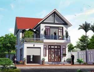 biet thu 2 tang dep kinh phi 500 trieu 300x232 - 28 Mẫu thiết kế nhà 2 tầng mái ngói đẹp