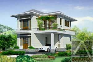 biet thu 2 tang dep kinh phi 500 trieu b 300x201 - Bản vẽ thiết kế nhà đẹp