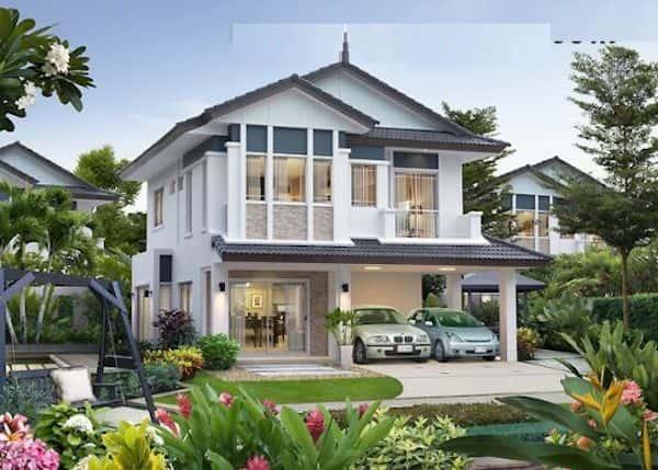 biet thu 2 tang dep kinh phi 500 trieu d - Thiết kế biệt thự 2 tầng chữ L đẹp và chuyên nghiệp nhất hiện nay