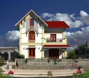 biet thu 2 tang dep kinh phi 500 trieu pl 300x263 - 28 Mẫu thiết kế nhà 2 tầng mái ngói đẹp