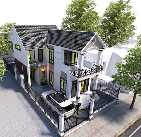 biet thu 2 tang dep kinh phi 600 trieu - Thiết kế nhà đẹp ở tại Hà Nội