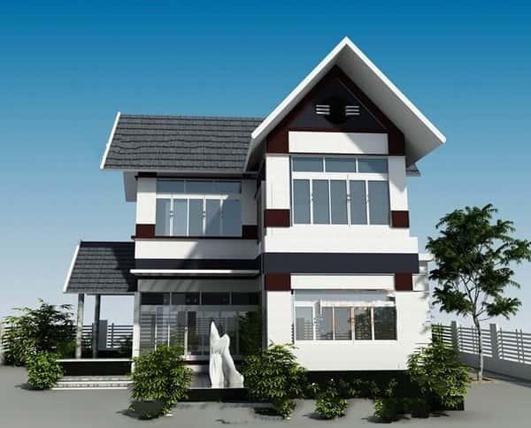 biet thu 2 tang dep kinh phi 700 trieu a - Thiết kế nhà đẹp ở tại Hà Nội