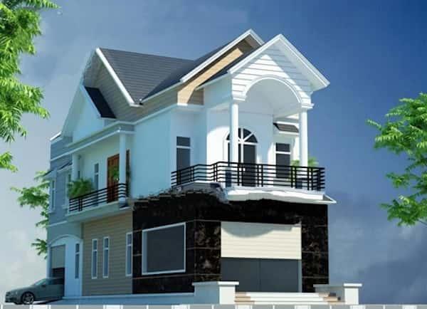 biet thu 2 tang dep kinh phi 700 trieu b - Thiết kế nhà đẹp ở tại Hà Nội