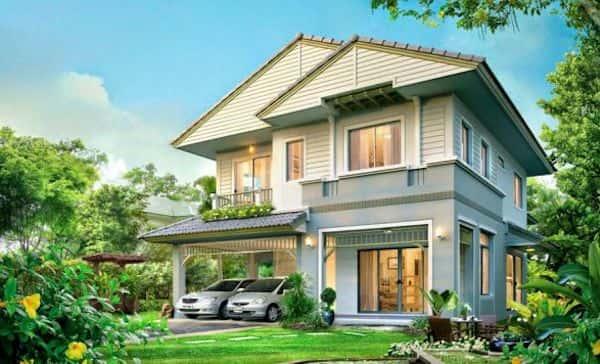 biet thu 2 tang dep kinh phi 800 trieu e - Thiết kế nhà đẹp ở tại Hà Nội
