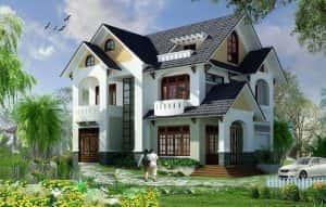 biet thu 2 tang mai thai NDBT2T5 300x191 - 28 Mẫu thiết kế nhà 2 tầng mái ngói đẹp
