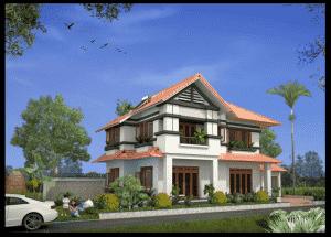 biet thu 2 tang mai thai dep g 300x215 - Thiết kế nhà đẹp ở tại tphcm