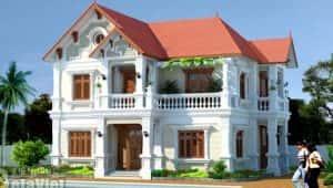 biet thu dep 2 tang d 300x170 - 28 Mẫu thiết kế nhà 2 tầng mái ngói đẹp