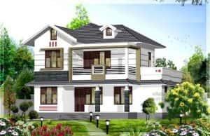 biet thu vuon 2 tang 300x194 - Bản vẽ thiết kế nhà đẹp