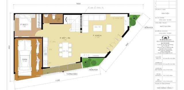 Tư vấn thiết kế biệt thự 3 tầng góc phố đẹp Thái Bình