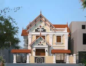 mau biet thu 2 tang kieu phap dep 300x231 - Thiết kế nhà đẹp ở tại tphcm