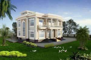 mau biet thu 2 tang kieu phap g 300x197 - Bản vẽ thiết kế nhà đẹp