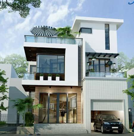 mau biet thu dep mat tien 7m - Bộ sưu tập mẫu thiết kế biệt thự phố đẹp và sang trọng