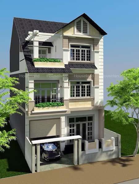 mau biet thu dep mat tien 8m - Bộ sưu tập mẫu thiết kế biệt thự phố đẹp và sang trọng