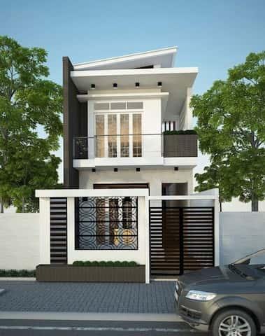 mau nha 2 tang dep NDMN2T1 - Thiết kế nhà 2 tầng đẹp