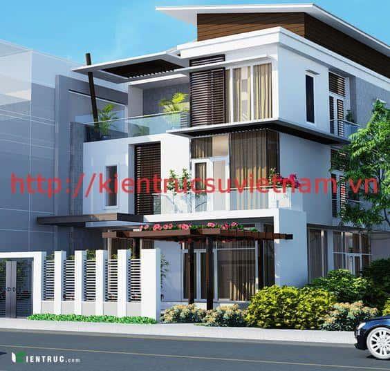 mau thiet ke dep phong cach hien dai 2b - Thiết kế nhà 3.5 tầng cô Loan chú Sơn Đà Nẵng