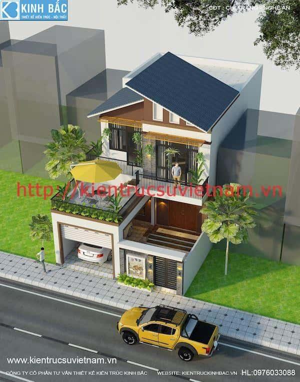 mau thiet ke dep phong cach hien dai 3 - 57 Mẫu thiết kế nhà mái thái đẹp nếu làm nhà các bạn nên tham khảo, mát phù hợp khí hậu nhiệt đới
