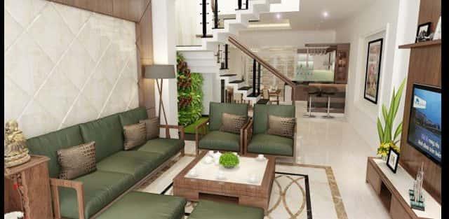 Thiết kế nội thất nhà phố 2 tầng mặt tiền 6.5 m