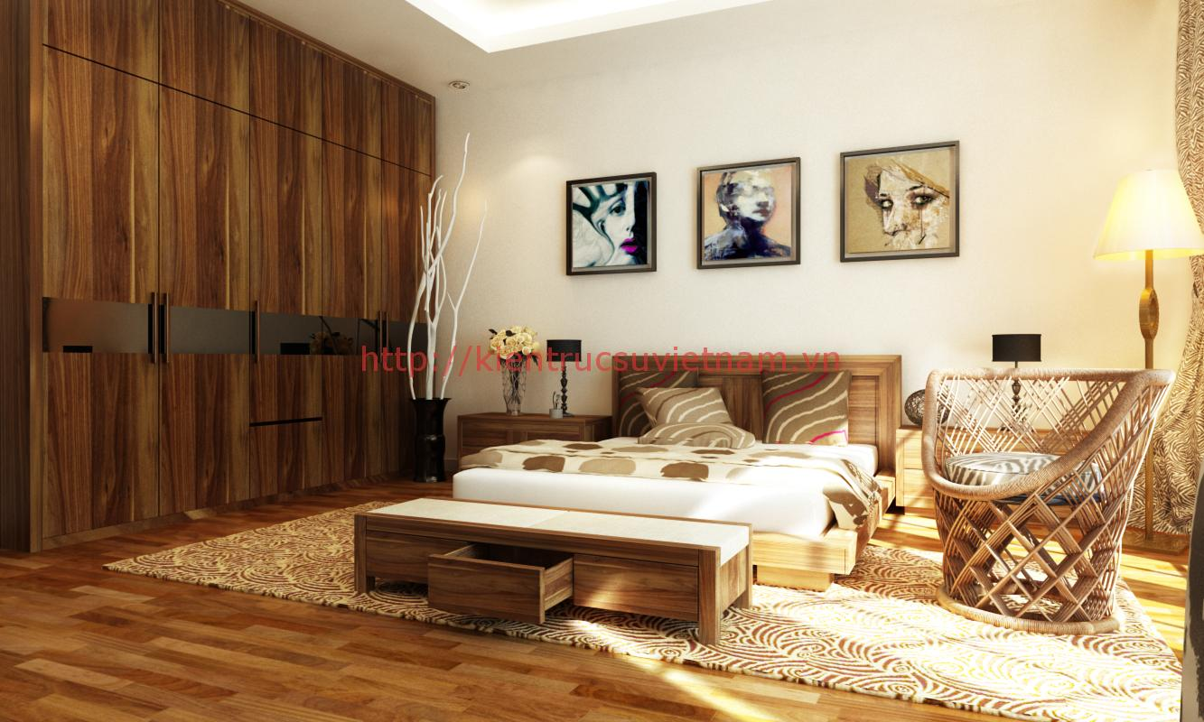 thiet ke noi that nhà pho 4 tang mạt tien 5.5 m 005 - Thiết kế nhà 5m x 16m anh Hưng Từ Sơn, Bắc Ninh
