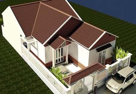 Thiết kế nhà cấp 4 mái thái 3 phòng ngủ đẹp