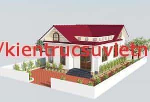 thiet ke nha cap 4 mai thai 3 phong ngu dep e 300x205 - Kiến trúc nhà kiểu thái 1 tầng