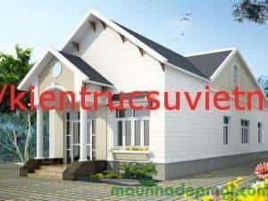 thiet ke nha cap 4 mai thai co gac lung 6 300x225 - Thiết kế nhà ở đẹp tại Vinh