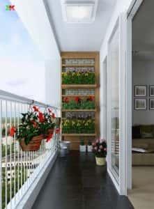 ban cong nha dep 12 221x300 - Tiêu chuẩn những mẫu thiết kế lan can ban công đẹp và an toàn