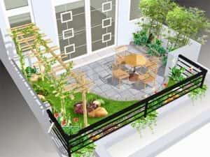 ban cong nha dep 15 300x225 - Tiêu chuẩn những mẫu thiết kế lan can ban công đẹp và an toàn