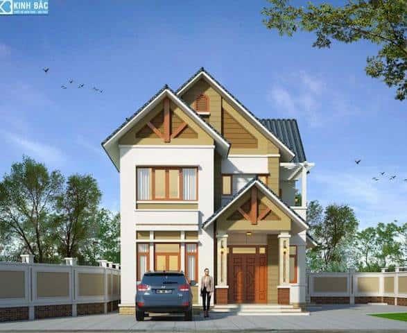 biet thu 2 tang chuong my ha noi 1 - Thiết kế biệt thự 2 tầng