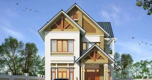 28 Mẫu thiết kế nhà 2 tầng mái ngói đẹp