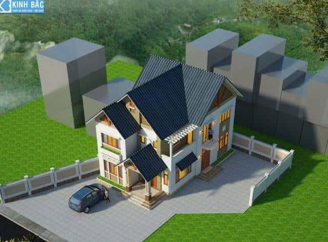 biet thu 2 tang chuong my ha noi - 30 Mẫu thiết kế biệt thự với kiến trúc hiện đại đẹp