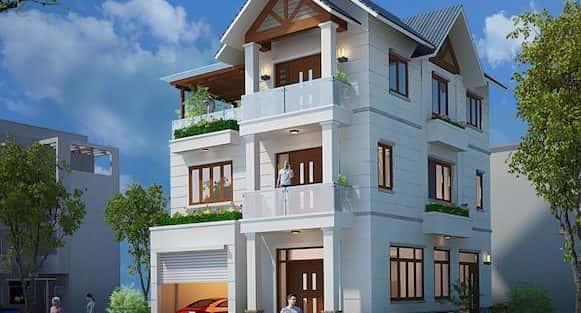 Biệt thự 3 tầng hiện đại Chị Hương, Thanh Hoá