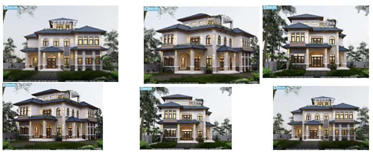 Biệt thự 3 tầng đẹp Ông Trình Hương ở Phú Xuyên Hà Nội