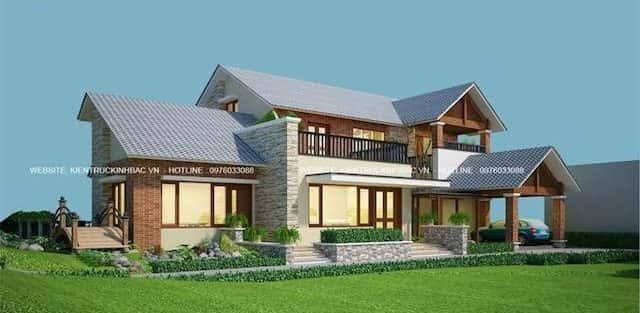Biệt thự 2 tầng đẹp ở Lập Thạch Vĩnh Phúc