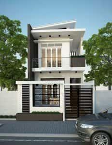 mau nha 2 tang dep 001 232x300 - Mẫu thiết kế nhà đẹp ở Thái Bình