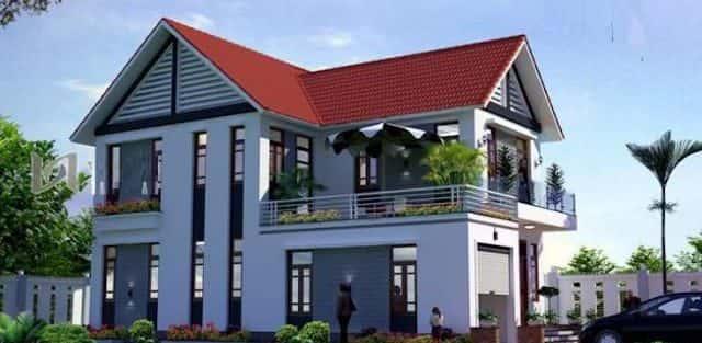 Mẫu nhà 2 tầng nông thôn đẹp