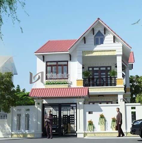 mau nha 2 tang dep 004a - Thiết kế nhà 2 tầng đẹp