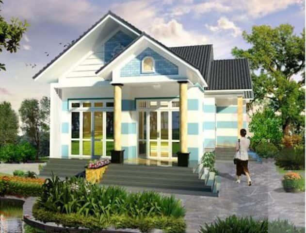 nha 1 tang mai thai dep 5 - 25 Mẫu thiết kế nhà mái ngói đẹp được nhiều người ưa thích