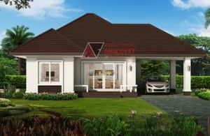 nha 1 tang mai thai dep 8 300x195 - 25 Mẫu thiết kế nhà mái ngói đẹp được nhiều người ưa thích