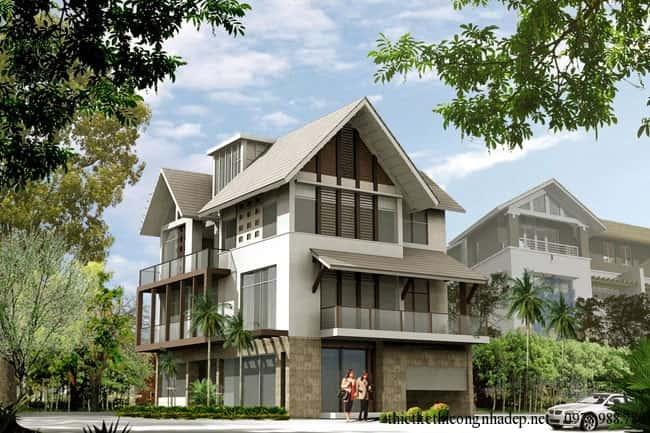 nha 3 tang mai thai kientrucsuvietnam.vn ms04 - Thiết kế nhà Thanh Hoá | 500 Mẫu nhà đẹp tối ưu công năng chuẩn phong thuỷ