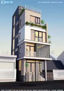 nha 5 tang anh dinh trieu khuc hn 1 210x300 - Mẫu thiết kế nhà đẹp ở Thái Bình