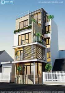 nha 5 tang anh dinh trieu khuc hn 3 210x300 - Mẫu thiết kế nhà đẹp ở Thái Bình