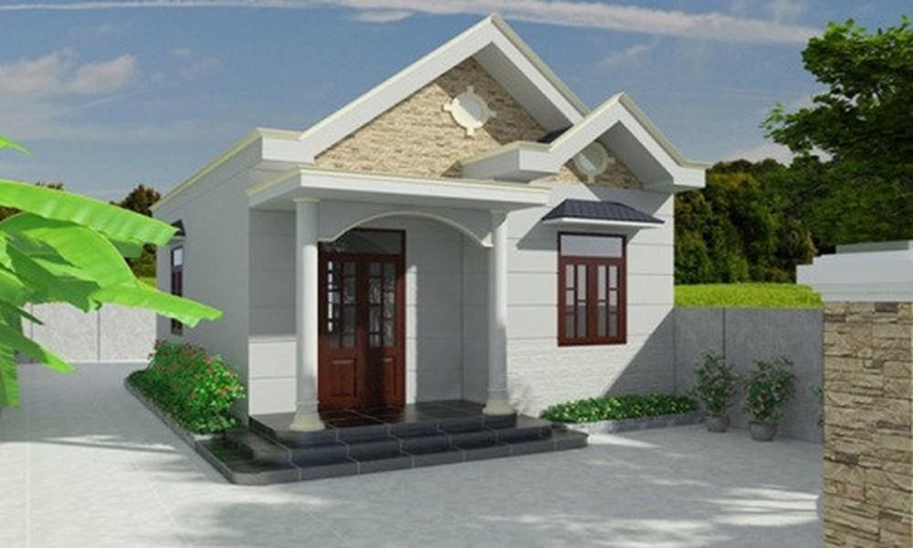 thiết kế nhà đẹp 1 1 - Xây nhà cấp 4 giá bao nhiêu tiền? đẹp hoàn chỉnh?