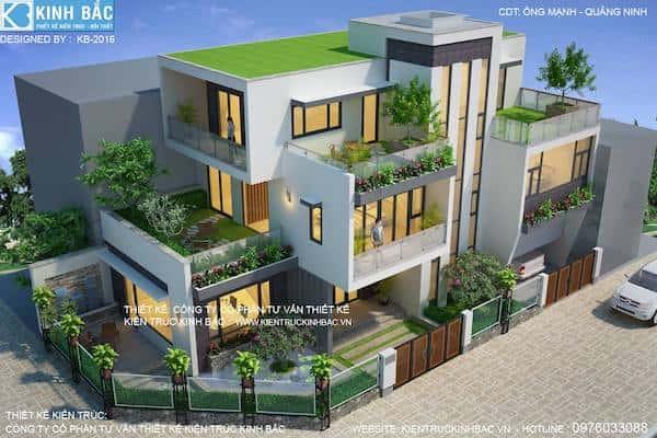 thi cong biet thu 3 tang 3 1 - 30 Mẫu thiết kế biệt thự với kiến trúc hiện đại đẹp