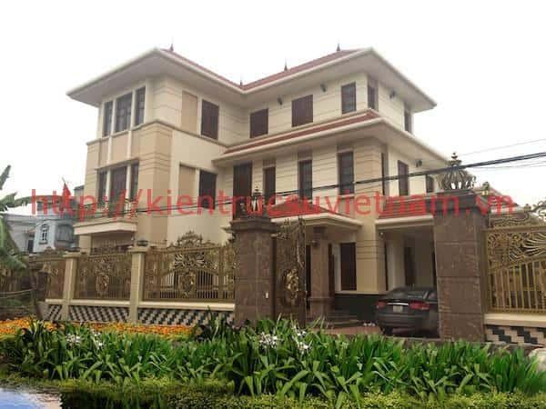 Thi công biệt thự 3 tầng hiện đại Mr Lành ở Sóc Sơn