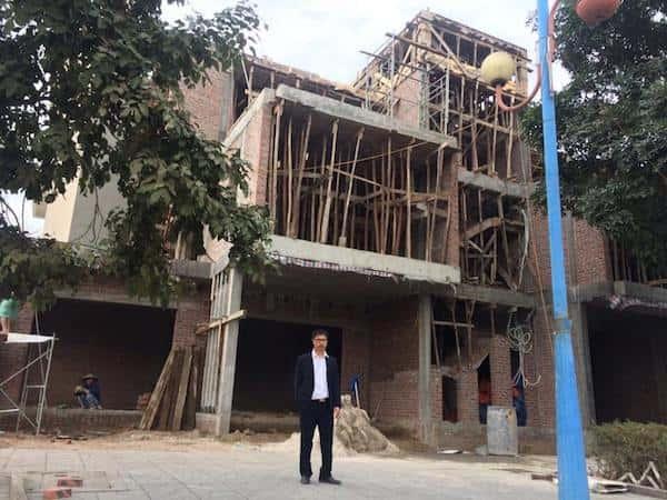 Thi công biệt thự 3 tầng hiện đại anh Mạnh ở Quảng Ninh