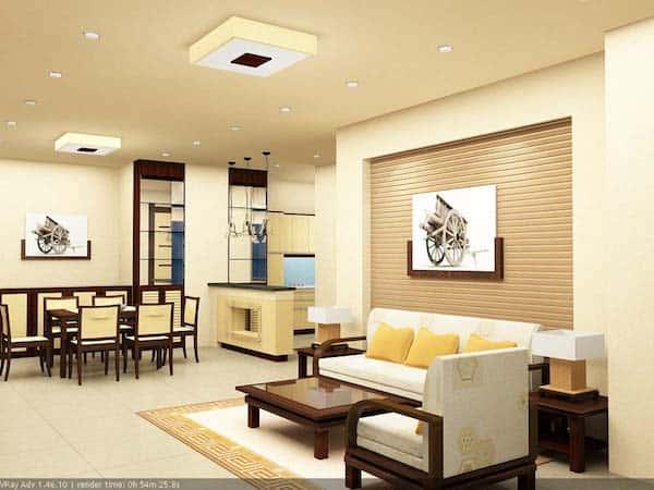 thiet ke noi that phong khach 3 - Thiết kế nội thất phòng khách - 4 bước đơn giản tạo nên không gian đẹp
