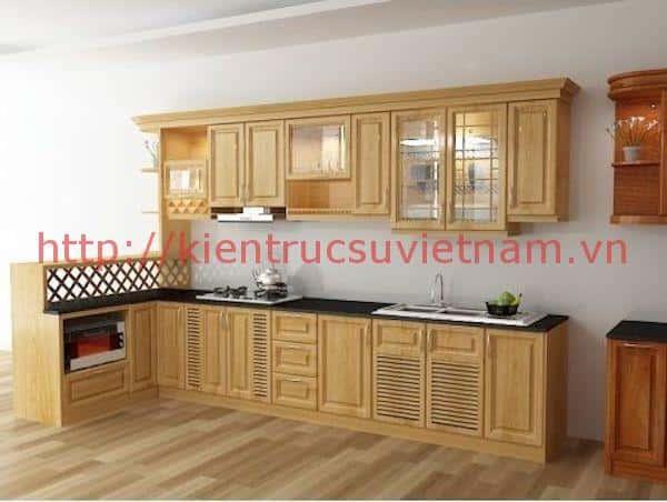 tu bep dep 13 - 10 mẫu nội thất phòng bếp nhà ống phổ biến nhất